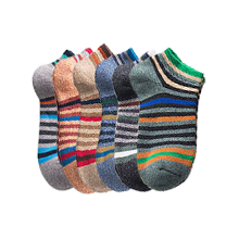 Men's Colorful Wool Cotton Socks, Boat Socks